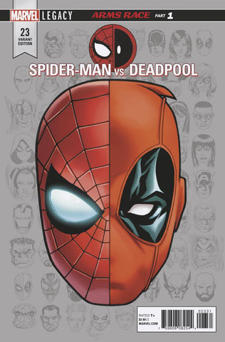 SPIDER-MAN DEADPOOL #23 MCKONE LEGACY HEADSHOT VAR LEG 11/8/2017 1:10 RATIO