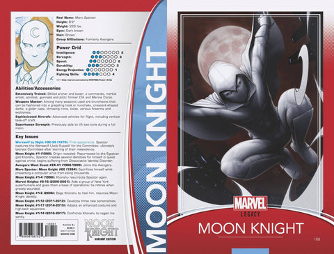 MOON KNIGHT #188 CHRISTOPHER TRADING CARD VAR LEG 11/8/2017