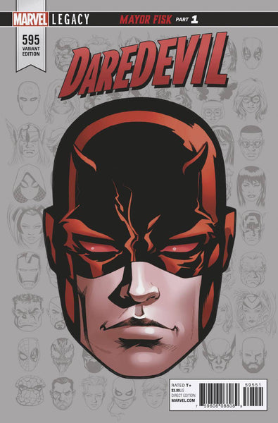 DAREDEVIL #595 MCKONE LEGACY HEADSHOT VAR LEG 11/08/2017 1:10 RATIO