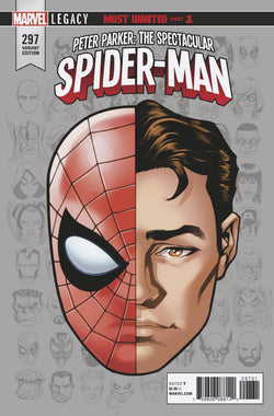 PETER PARKER SPECTACULAR SPIDER-MAN #297 LEGACY HEADSHOT VAR 11/15/2017 1:10 RATIO