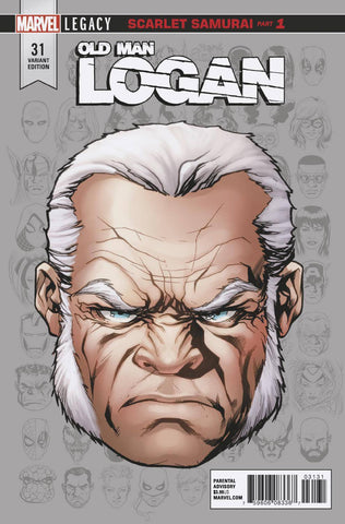 OLD MAN LOGAN #31 MCKONE LEGACY HEADSHOT VAR LEG 11/29/2017 1:10 RATIO
