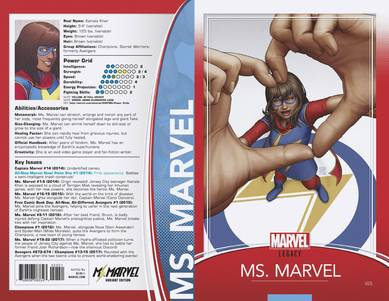 MS MARVEL #25 CHRISTOPHER TRADING CARD VAR LEG