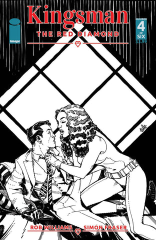 KINGSMAN RED DIAMOND #4 (OF 6) CVR B B&W HAMNER (MR)