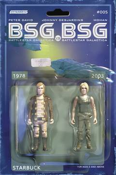 BSG VS BSG #5 (OF 6) CVR C MICHAEL ADAMS STARBUCK ACTION FIG 5/16/2018