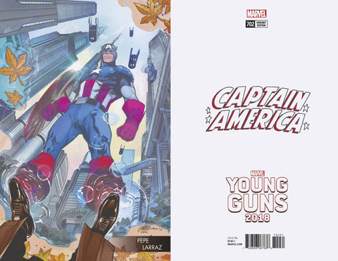 CAPTAIN AMERICA #702 LARRAZ YOUNG GUNS VAR 5/16/2018