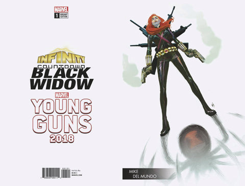 INFINITY COUNTDOWN BLACK WIDOW #1 YOUNG GUNS VAR 6/20/2018