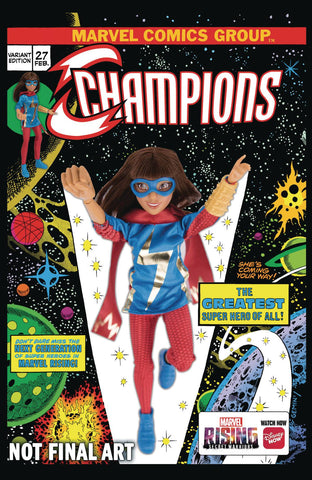 CHAMPIONS #27 MARVEL RISING ACTION DOLL HOMAGE VAR 12/12/2018
