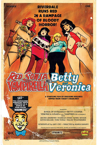 RED SONJA VAMPIRELLA BETTY VERONICA #1 CVR C HACK 5/8/2019