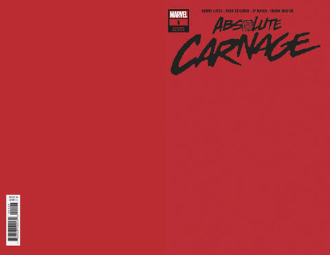 ABSOLUTE CARNAGE #1 (OF 4) RED VAR AC 1:200 (08/07/2019)