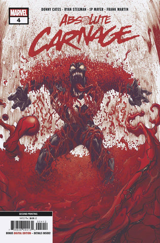 ABSOLUTE CARNAGE #4 (OF 5) 2ND PTG STEGMAN VAR AC (12/11/2019)