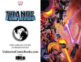 THANOS #16 3RD PTG SHAW UNKNOWN COMIC BOOKS EXCLUSIVE VIRGIN