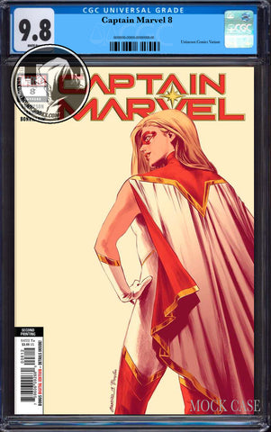 CAPTAIN MARVEL #8 2ND PTG CARNERO NEW ART VAR CGC 9.8 BLUE LABEL (12/30/2019)