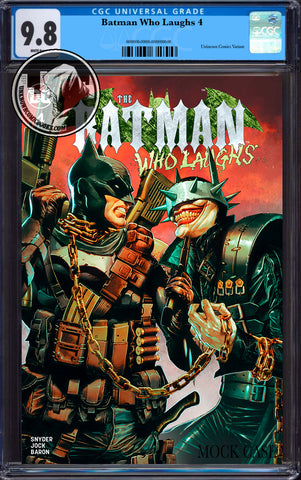 BATMAN WHO LAUGHS #4 (OF 6) UNKNOWN COMIC BOOKS SUAYAN EXCLUSIVE CGC 9.8 BLUE LABEL 7/30/2019