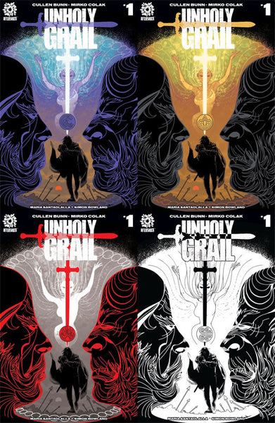 UNHOLY GRAIL # 1 MERLIN 4 PACK SET SHARED EXCLUSIVE