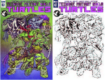 TEENAGE MUTANT NINJA TURTLES #67 UNKNOWN COMIC BOOKS EXCLUSIVE (2 PACK COLOR BLACK &  WHITE)
