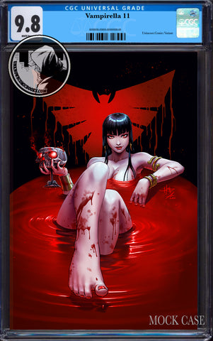 VAMPIRELLA #11 UNKNOWN COMICS CREEES EXCLUSIVE VIRGIN VAR CGC 9.8 BLUE LABEL (12/29/2020)