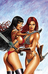 VAMPIRELLA RED SONJA #1 UNKNOWN COMICS MARK SPARACIO NYCC 2019 EXCLUSIVE VIRGIN (10/09/2019)