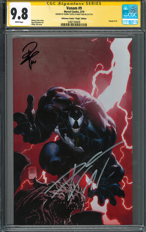 VENOM #9 UNKNOWN COMICS PHILIP TAN EXCLUSIVE VIRGIN GCG SS YELLOW LABEL 9.8 DOUBLE 3/30/2019