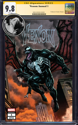 VENOM ANNUAL #1 UNKNOWN COMIC BOOKS SUAYAN EXCLUSIVE CGC 9.8 SS YELLOW LABEL 5/30/2019