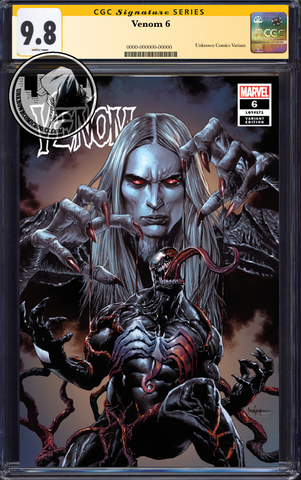 VENOM #6 UNKNOWN COMIC BOOKS MICO SUAYAN EXCLUSIVE VAR CGC 9.8 SS YELLOW LABEL 5/30/2019