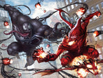 VENOM #1 / AMAZING SPIDER-MAN #801 INHYUK LEE COMICXPOSURE VIRGIN CONNECTING COVER SET 8/15/2018
