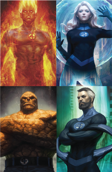 FANTASTIC FOUR #1 #2 #3 ARTGERM VIRGIN 4 PACK 10/17/2018