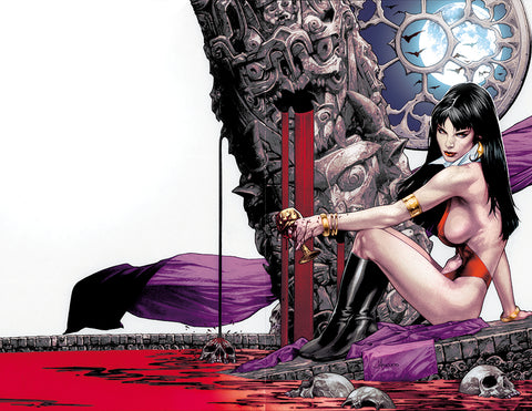 VAMPIRELLA #1 UNKNOWN COMICS JAY ANACLETO EXCLUSIVE VIRGIN WRAPAROUND (07/17/2019)