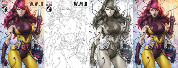 WEAPONS OF MUTANT DESTRUCTION #1 UNKNOWN COMIC BOOKS EXCLUSIVE (ARTGERM) 4 PACK W/ CON EXCLUSIVE (07/21/2017 OR LATER)