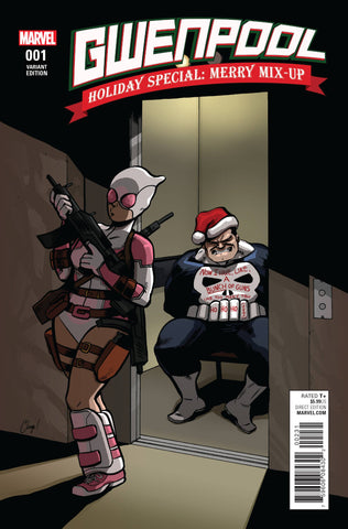 GWENPOOL HOLIDAY SPECIAL MERRY MIX UP ZDARSKY 1:100