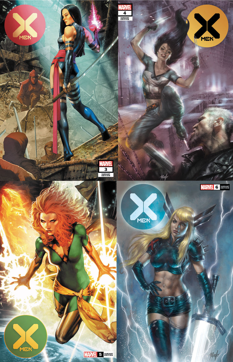 X-MEN NEW SERIES #3-#6 4 EXCLUSIVES 4 PACK (02/26/2020)