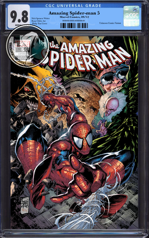 AMAZING SPIDER-MAN #5 UNKNOWN COMIC BOOKS TAN  CGC 9.8 BLUE LABEL 01/30/2019