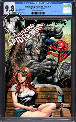 AMAZING SPIDER-MAN #3 UNKNOWN COMIC BOOKS KIRKHAM CGC 9.8 BLUE LABEL 11/30/2018