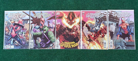 AMAZING SPIDER-MAN #797-#801 RAMOS CONNECTING COVER 5 PACK BUNDLE 6/20/2018