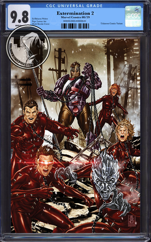 EXTERMINATION #2 (OF 5) UNKNOWN COMIC BOOKS BROOK VIRGIN VAR CGC 9.8 BLUE LABEL 12/30/2018