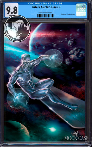 SILVER SURFER BLACK #1 (OF 5) UNKNOWN COMIC BOOKS PARRILLO EXCLUSIVE VIRGIN CGC 9.8 BLUE LABEL (08/30/2019)