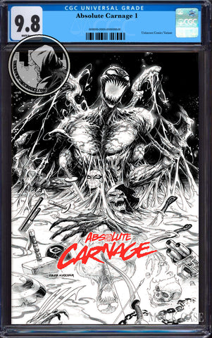ABSOLUTE CARNAGE #1 (OF 4) TYLER KIRKHAM EXCLUSIVE B&W CGC 9.8 BLUE LABEL (11/30/2019)