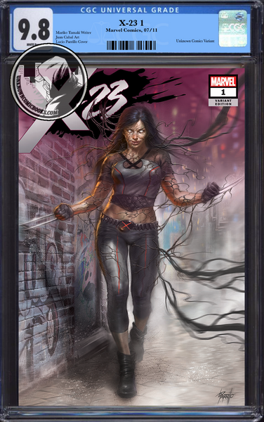 X-23 #1 UNKNOWN COMIC BOOKS EXCLUSIVE PARRILLO VENOMIZED CGC 9.8 BLUE LABEL 10/30/2018