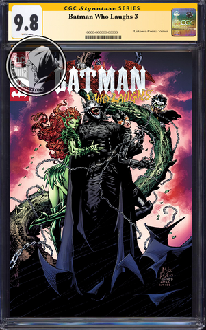 BATMAN WHO LAUGHS #3 (OF 6) UNKNOWN COMIC BOOKS EXCLUSIVE PERKINS CGC 9.6+ SS YELLOW LABEL 6/30/2019