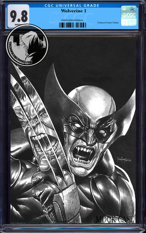 WOLVERINE #1 UNKNOWN COMICS MICO SUAYAN EXCLUSIVE B&W VIRGIN VAR DX CGC 9.8 BLUE LABEL (08/26/2020)