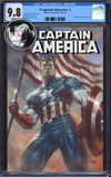 CAPTAIN AMERICA #1 UNKNOWN COMIC BOOKS EXCLUSIVE PARRILLO CGC 9.8 BLUE LABEL 10/30/2018