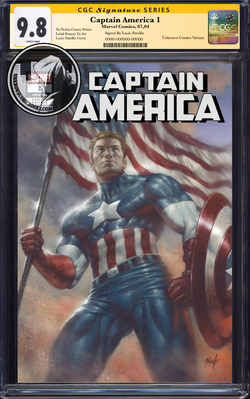 CAPTAIN AMERICA #1 UNKNOWN COMIC BOOKS EXCLUSIVE PARRILLO CGC 9.8 SS YELLOW LABEL 10/30/2018