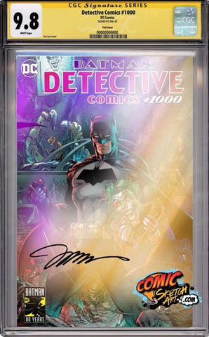 DETECTIVE COMICS #1000 FOIL ED VAR CGC 9.8 SS YELLOW LABEL JIIM LEE 7/30/2019