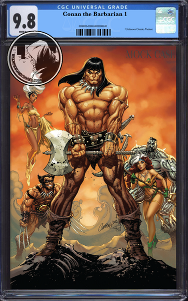 CONAN THE BARBARIAN #1 UNKNOWN COMIC BOOKS EXCLUSIVE VIRGIN CAMPBELL CGC 9.8 BLUE LABEL 4/30/2018