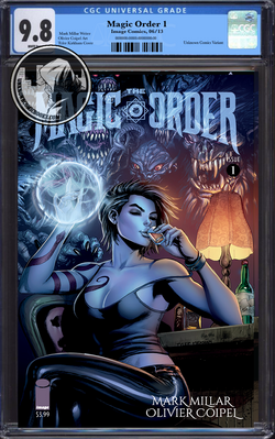 MAGIC ORDER #1 (OF 6) UNKNOWN COMIC BOOKS KIRKHAM (MR) CGC 9.8 BLUE LABEL 9/1/2018