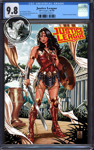 JUSTICE LEAGUE #1 MARK BROOKS EXCLUSIVES CGC 9.8 BLUE LABEL 9/1/2018