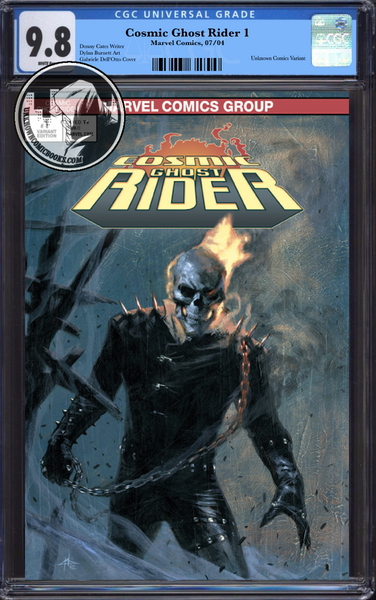 COSMIC GHOST RIDER #1 (OF 5) UNKNOWN COMIC BOOKS EXCLUSIVE DELL'OTTO CGC 9.8 BLUE LABEL 10/30/2018