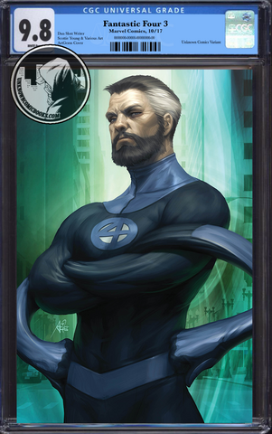 FANTASTIC FOUR #3 UNKNOWN COMIC BOOKS ARTGERM MR FANTASTIC VIRGIN VAR CGC 9.8 BLUE LABEL 01/30/2019