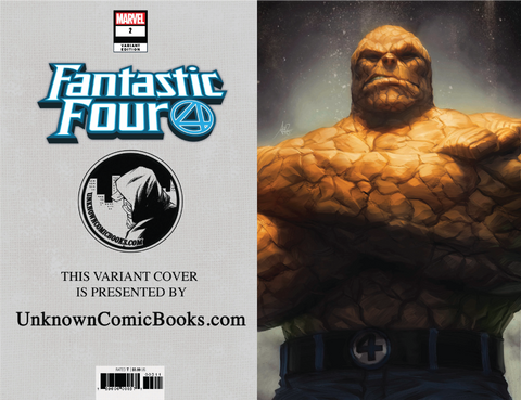 FANTASTIC FOUR #2 UNKNOWN COMIC BOOKS ARTGERM THING VIRGIN VAR 9/12/2018