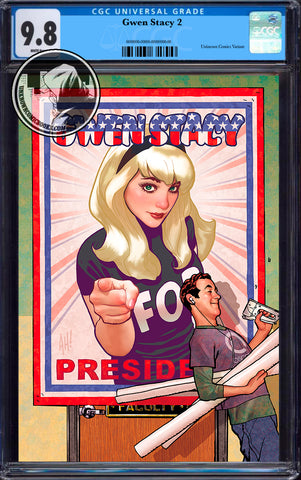 GWEN STACY #2 (OF 5) UNKNOWN COMICS ADAM HUGHES VIRGIN VAR CGC 9.8 BLUE LABEL (06/30/2020)