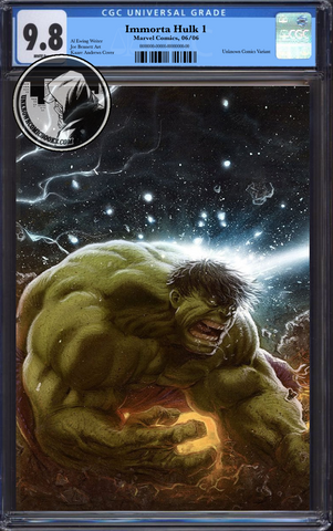 IMMORTAL HULK #1 CONNECTING PARTY UCB EXCLUSIVE VIRGIN VAR CGC BLUE LABEL 9/1/2018